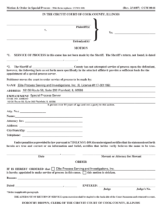 Cook County Special Process Server Form